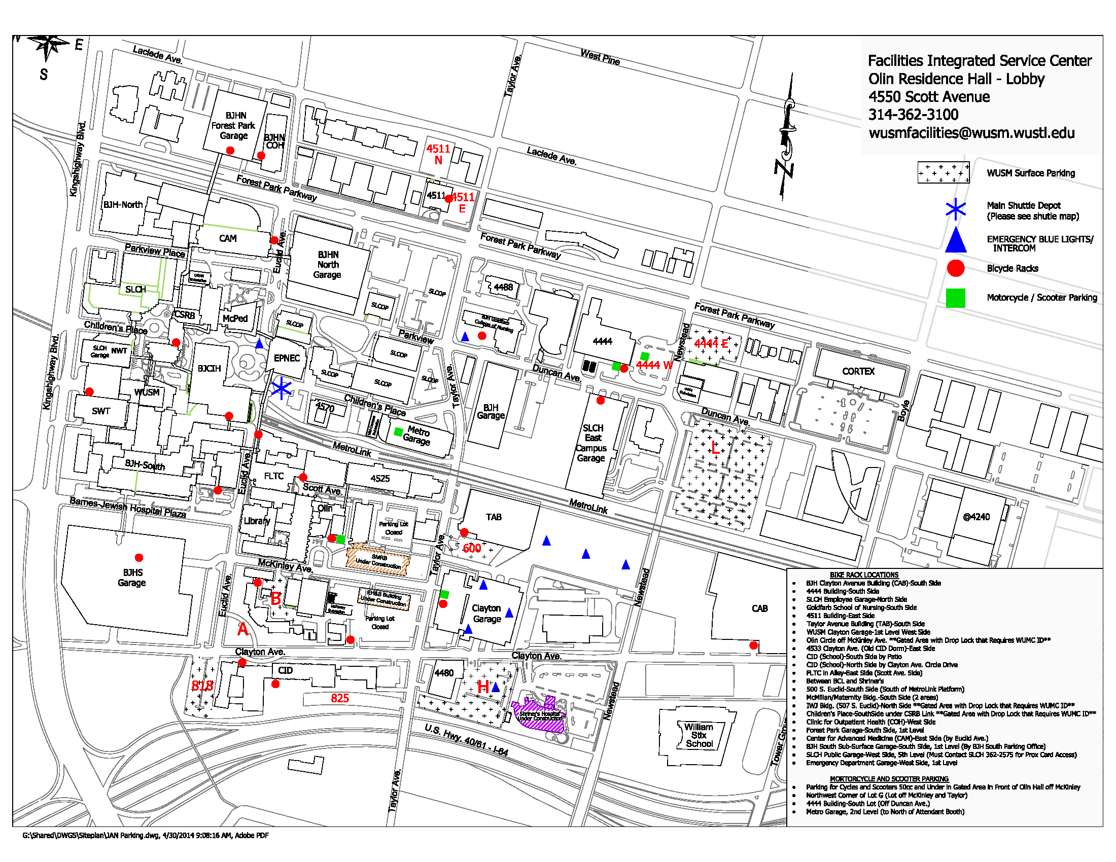 Parking facilities management department for Location parking