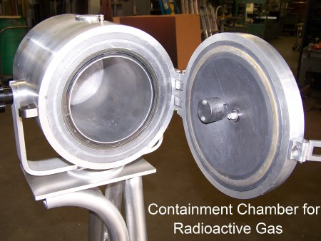 Containment Chamber for Radio Gas